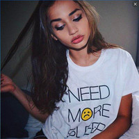 Need More Sleep White T-shirt [11089185039]