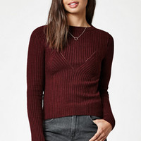 Kendall & Kylie Seamed Ribbed Pullover Sweater at PacSun.com
