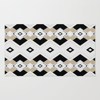 diamonds and lines Rug by SpinL