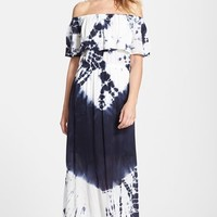 Women's Fraiche by J Tie Dye Off Shoulder Maxi Dress