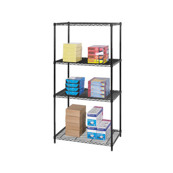 Safco Industrial Wire Shelving Storage Unit 36 x 24 Black
