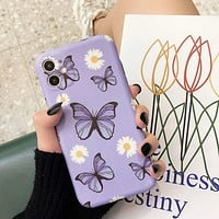 2020 Creative New Product Purple Butterfly Printed 11ProMax Phone Case Cover