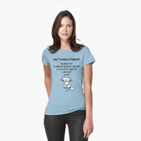 How To Gain My Friendship Funny Cat Lover T Shirt by bitsnbobs