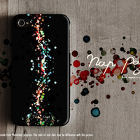 Apple iphone case for iphone iphone 3Gs iphone 4 iphone 4s iPhone 5 : Abstract colorful bokeh on black background