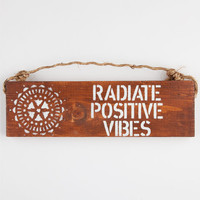 Positive Vibes Sign Natural One Size For Women 25292042301