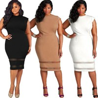 Ladies Womens Brief Solid Daily Dresses Clothing Women Sexy Casual Summer Mini Dress Party Bodycon Sleeveless
