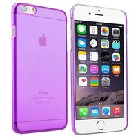 Insten Clear Transparent Purple Hard Snap-On Plastic Case Slim Cover For Apple iPhone 6 4.7 Inches - Walmart.com
