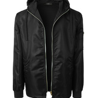 LE3NO Mens Lightweight Windbreaker Zip Up Hoodie Bomber Jacket