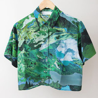 RICHARDS Cropped Summer Shirt - Fantasy « Pour Porter