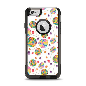 The Lollipop Candy Pattern Apple iPhone 6 Otterbox Commuter Case Skin Set