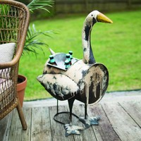 Recycled Metal Goose Cooler/planter