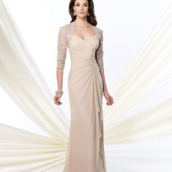 Mother of the Bride Dresses – Montage by Mon Cheri 214943 Lace Sleeves