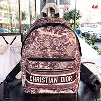 DIOR Women Fashion New Letter Multicolor Print Leisure Backpack Bag  4#