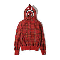 Men's Fashion Winter Plaid Hats Zippers Hoodies Jacket [10277049287]
