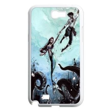 Zombie Disney Princess Zombie Little Mermaid Hard Plastic Back Protection Case for Samsung Galaxy Note 2 N7100