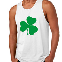 Men's Tank Top Green Shamrock Graphic St Patrick's Day Top