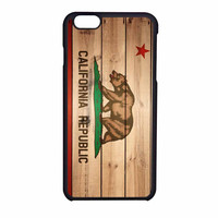 California Republic State Flag Wood Design iPhone 6 Case