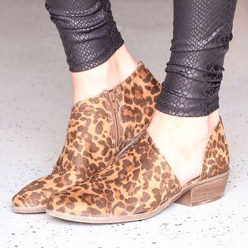 Not Rated: Leopard Jasper Open Side Bootie