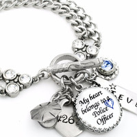 Personalized Police Officer Charm Bracelet