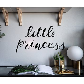 Vinyl Wall Decal Little Princess Words Girl Baby Room Nursery Stickers Mural 22.5 in x 12.5 in gz049