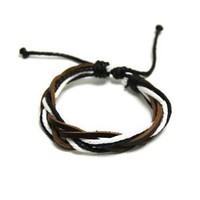 Hot Sale New Arrival Gift Great Deal Shiny Awesome Stylish Leather Men Accessory Bracelet [6526750147]