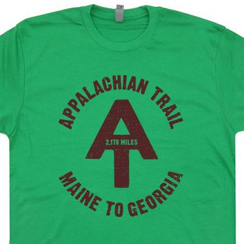 Appalachian Trail T Shirt Vintage Hiking Camping T Shirt