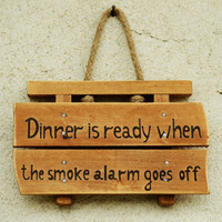 Wooden Sign Kitchen Decor Home Decor Wood Signboard