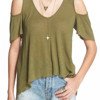 Free People 'Bittersweet' Cold Shoulder Top | Nordstrom