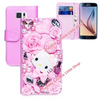 $11.99 Cute Hello Kitty Wallet Leather Case For Samsung Galaxy S7 & Galaxy S7 edge FREE SHIPPING!