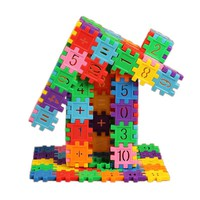 80Pcs/Set Plastic Building Blocks with Number Pattern Dual Kids Educational Math Learning Toy Colorful Gear Blocks Toy