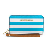 MICHAEL Michael Kors Large Jet Set Travel Striped Multifunction Wallet