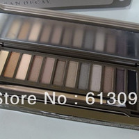 1 pcs/lot New Makeup 12 Colors Eyeshadow Palette Lip Glass Free China post Air shipping