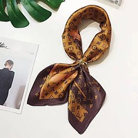 LV Louis Vuitton Women Kerchief Shawl Silk Scarf