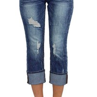 Dear John Playback Cuffed Dynasty Cropped Straight Leg Jeans