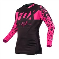 Fox Racing 2016 Womens 180 Jersey Black/Pink available at Motocross Giant
