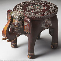 TABLES - ELEPHANT ACCENT TABLE - PLANT STAND - ACCENT FURNITURE