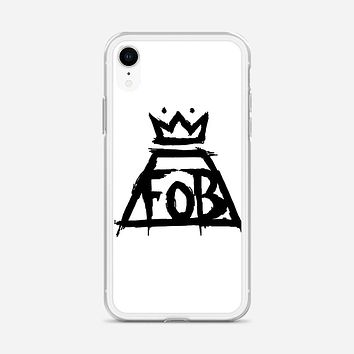 Fall Out Boy White iPhone XR Case