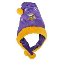 Forever Collectibles Minnesota Vikings Thematic Santa Hat - Adult (Purple)