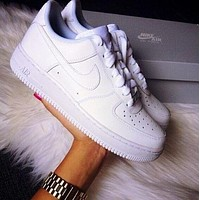 Nike Air Force 1 Fashion Classic Men And Women All-match Casual White Shoes Sneakers