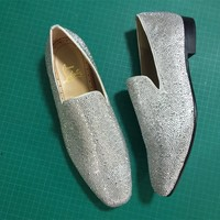 DCCK Christian Louboutin Slip On CL fashion casual shoes red sole for men and women jeans 90522