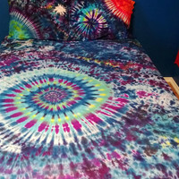 Tie Dye Bed Sheet Set (Custom Made & One-of-a-Kind!)