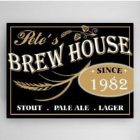 Personalized Brew House Canvas