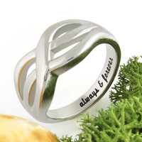 """Promise Ring Infinity Ring """"Always and Forever"""" Best Gift for Girlfriend"""