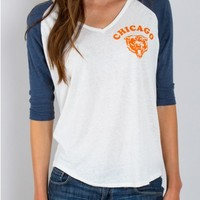 Junk Food Clothing - NFL Chicago Bears Raglan - NFL - Collections - Womens