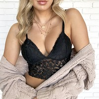 Lucid Dreams Lace Bralette in Black