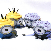 Despicable Me 2  Inspired Minions Cupcake Wrapper Set by Shnookers