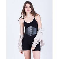 Lace-Up Corset Waist Belt