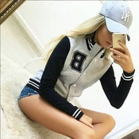 Women's Fashion Print Hoodies Sports Jacket [9185629124]