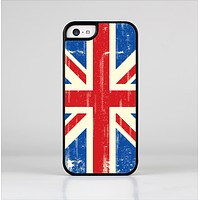 The Grunge Vintage Textured London England Flag Skin-Sert Case for the Apple iPhone 5c