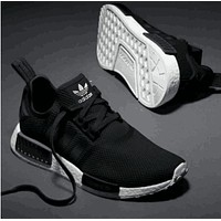 adidas nmd trending fashion casual sports shoes black